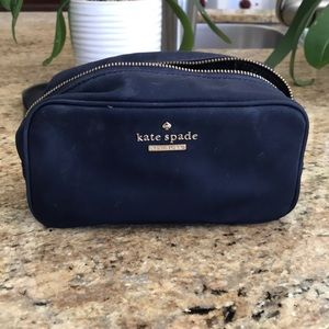 Kate Spade blue makeup bag
